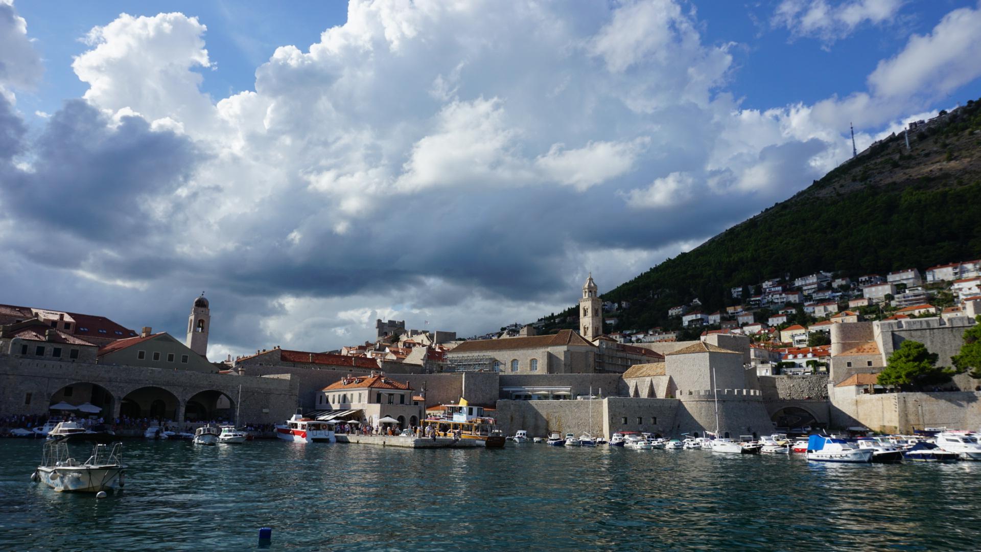 Vista de Dubrovnik desde el barco